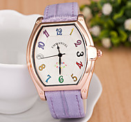 L.WEST Fashion Square And Colorful Digital Belt Quartz Watch