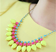 Women Han Edition Candy Color Necklace