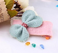 YW Sweet Plush Bow Barrettes(9 bow Colors)