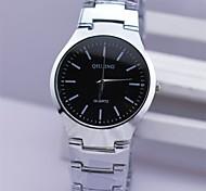 Masculino Relógio de Pulso Quartz Aço Inoxidável Banda Prata marca-