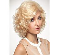 la moda sin tapa dama estilo rizado peluca sintética rubia media europa y los estados unidos