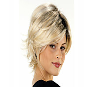 Lady's Light Blonde Curly Short Synthetic  Wigs