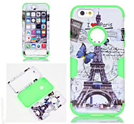For iPhone 6 Case / iPhone 6 Plus Case Shockproof / Pattern Case Full Body Case Eiffel Tower Soft SiliconeiPhone 6s Plus/6 Plus / iPhone