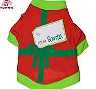 Cat / Dog Coat / Shirt / T-Shirt Red Spring/Fall Bowknot Christmas / New Year's