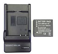 nos cargador 4.2v DMW-BCF10 casa + (1) de la batería para Panasonic fs4 / fs6 / FS12 FS15 FS25 fs7fs8