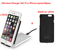 Tesla1856 Qi 3 Coils Foldable Wireless Charger Dock and receiver case for iPhone 6plus/6Splus