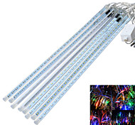 JIAWEN® Waterproof 50CM 8-Tube RGB Meteor Rain Light Decoration Tube Lights (US Plug, AC 110V)