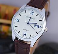 L.WEST Men's Analog The Calendar Diamonds Quartz Watch Wrist Watch Cool Watch Unique Watch