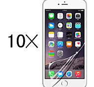 [10-Pack]Professional High Transparency LCD Crystal Clear Screen Protector with Cleaning Cloth for iPhone 6/6S