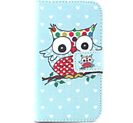Owl  Pattern PU Leather Case with Money Holder Card Slot for Galaxy Grand Neo/ GALAXY CORE Prime/ Galaxy Grand Prime