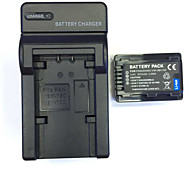 nos cargador 4.2v vw-vby100 casa + (1) de la batería para Panasonic v110gk v110k v110p