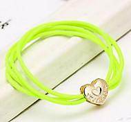 Heart Love Fluorescent Colors Elastic Hair Ties