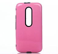 TPU and PC Combo Bracket Cell Phone Case for Motorola G3 (Assorted Colors)