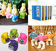 Rabbit Robot Book Bear Eraser Set(Assorted Pattern)