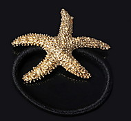 Women's Alloy Starfish Hair Ring Hair Accessories Mermaid