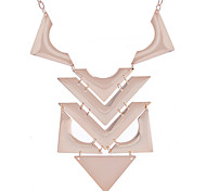 European Style Fashion Glaze Geometric Shape Joint Alloy Necklace