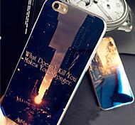 azul claro amanecer puesta de sol salida del sol de la ciudad del caso del tpu reflexivo blu-ray debilidad por 6s iphone más / iphone 6