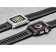 Newest Connection Silicone Watch with Metal Shell Classic Buckle for iWatch Watchband 38mm/42mm Assorted Colors