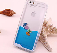 For iPhone 6 Case / iPhone 6 Plus Case Flowing Liquid / Transparent Case Back Cover Case Animal Soft TPUiPhone 6s Plus/6 Plus / iPhone