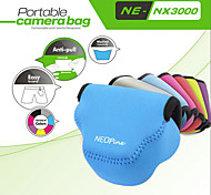 Fashionable NEOpine Neoprene Soft Triangle Camera Case Bag for Samsung NX3000 Camera 20-50mm Lens