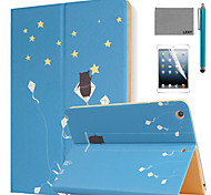 LEXY® Summer Stars Pattern PU Leather Flip Stand Case with Screen Protector and Stylus for iPad Air 2/iPad 6