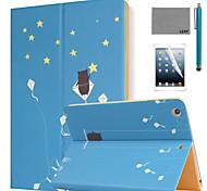 lexy® étoiles d'été modèle PU cuir flip reposer cas avec protecteur d'écran et un stylet pour iPad air 2 / ipad 6