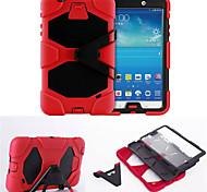 hybride zware beschermhoes met kickstand schokbestendig voor Samsung Galaxy Tab 7.0 3 / tab 4 7.0 / tab 4 8.0 / tab een 8,0