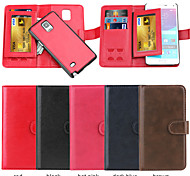 PU Leather +TPU Back Cover Wallet Input The SIM Card Case Can Be Separated Case For Samsung Galaxy Note 4