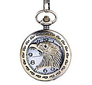 Hombre Reloj de Bolsillo Cuarzo Aleación Banda Plata