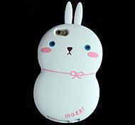 silicium de mode 3d cas de lapin pour la pomme iPhone6 plus / 6s en plus