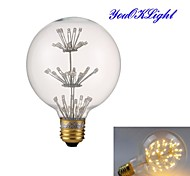 Lampadine globo 47 Capsula LED YouOKLight B E26/E27 3 W Decorativo 130 LM Bianco caldo 1 pezzo AC 220-240 V