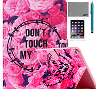 LEXY® Flowers Story Pattern PU Leather Flip Stand Case with Screen Protector and Stylus for iPad Mini 4