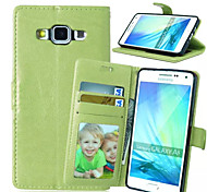 High quality PU leather wallet mobile phone holster Case For Galaxy A5/A3(Assorted Color)