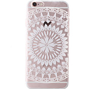 White Sunflower Style Transparent Soft TPU Back Cover for iPhone 6 Plus/6S Plus