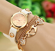 Woman's Watch Korean Fashion Ladies Watch Diamond Bracelet Metal Belt Round Table
