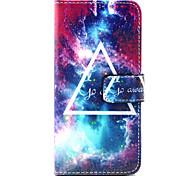 padrão de capa de couro pu estrelas com pressão magnética e slot para cartão para iphone 6 6s / iphone