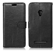 PU Leather + TPU Back Cover Wallet Case Flip Cover Photo Frame Case for Asus Zenfone 5