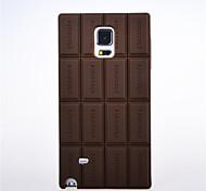 3d Schokolade Einbandfall des Silikons für Samsung Galaxy Note 4