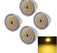 7W GU5.3(MR16) LED Spot Lampen A50 48 SMD 2835 600 lm Warmes Weiß Dekorativ DC 12 V 4 Stück