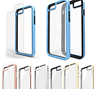Bumper + Transparent Back Case Cover for iPhone 6/6S