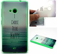I Choose To Be Happy Words Phrase Pattern 0.6mm Ultra-Thin Soft Case for Lumia 535