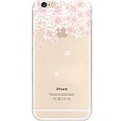 iphone 7 plus blanc motif de prune matériau tpu étui souple de téléphone pour iphone 6 / 6s
