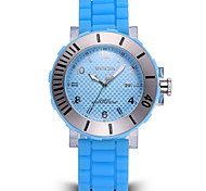 Weiqin®Luminous Hand Auto Date Metal Plastic Case Silicone Strap Sport Watches Men Luxury Casual Quartz Watch