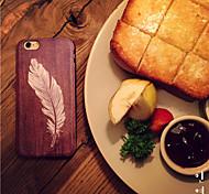 motif d'impression de gravure sur bois de haute qualité en cuir PU et TPU Retour cas pour iphone 6s 6plus / iphone plus (couleurs