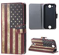 Retro amerikanische Flagge Mappen-Lederstandplatzfall für Acer Liquid jade z
