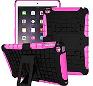 Miitary Army Plastic+Silicone Rubber Gel 2 in 1 Shockproof Hard Case With Stand Cover for iPad Air 2(Assorted Colors)