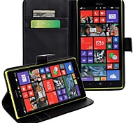 For Nokia Case Wallet / Card Holder / with Stand Case Full Body Case Solid Color Hard PU Leather Nokia Nokia Lumia 535