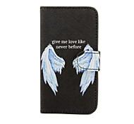vleugels patroon pu lederen tas met standaard voor de Samsung Galaxy S3 mini i8190 / S4 mini i9190 / S5 mini