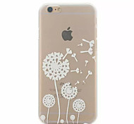 White Dandelion Pattern Hard Back Case for iPhone 6