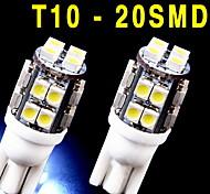2 Stück neue 6000k weißen Keil t10 20-SMD LED-Lampen w5w 2825 158 192 168 194
